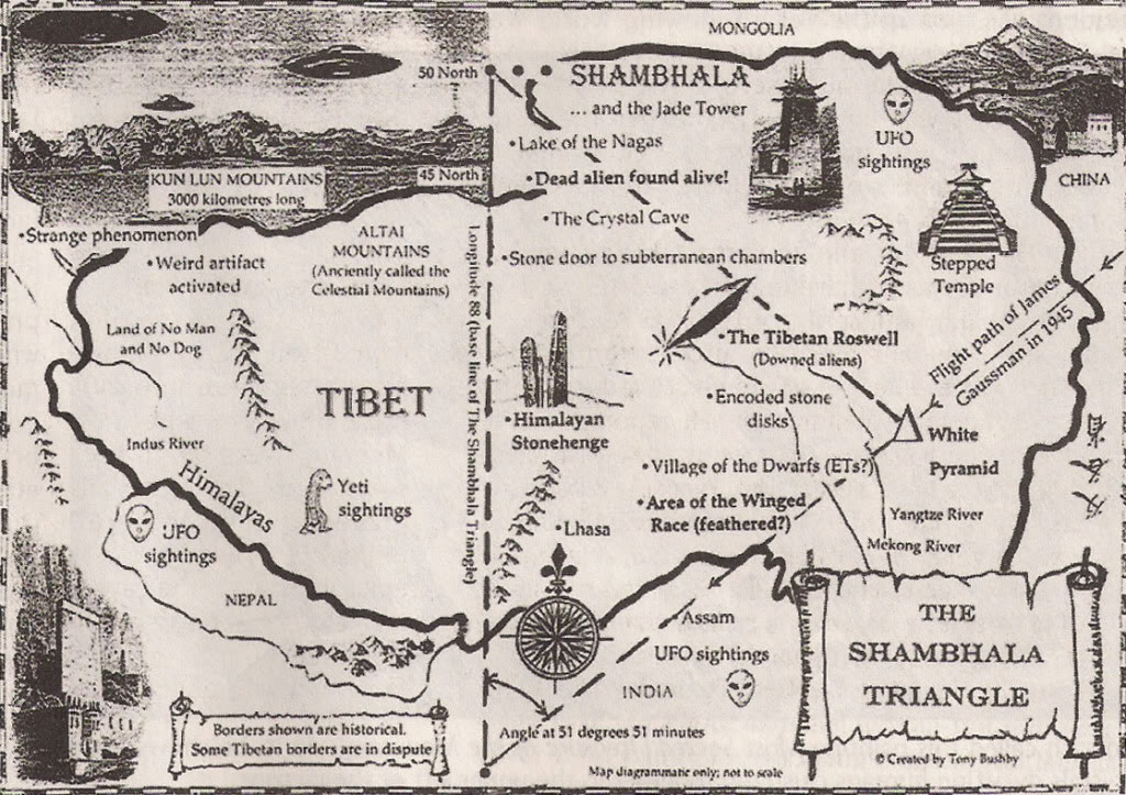 Mapa Shambala - Tô no Cosmos