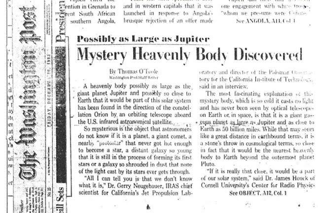 Washington post 1983 - Tô no Cosmos