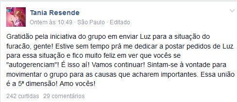 Furacao facebook1 - To no Cosmos
