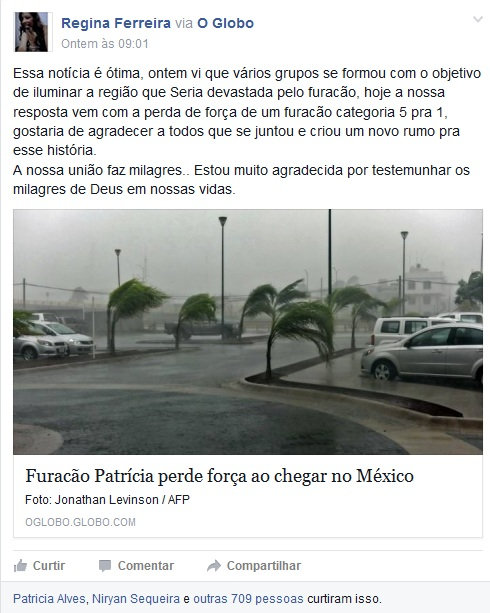 Furacao facebook2 - To no Cosmos