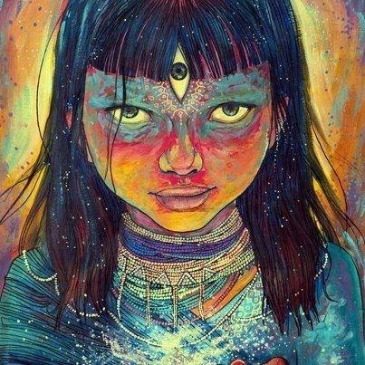 Indigo painting - to no Cosmos