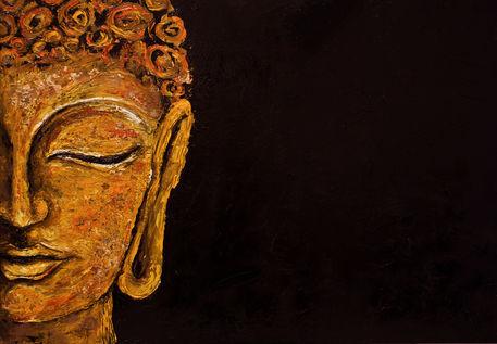 Pintura Buda - Tô no Cosmos