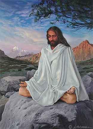 Jesus Cristo Meditando - To no Cosmos