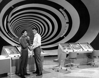 """The Time Tunnel"" James Darren and Robert Colbert c. 1966 / ** I.A. © Irwin Allen Properties, LLC and Twentieth Century Fox Film Corporation. All rights reserved"