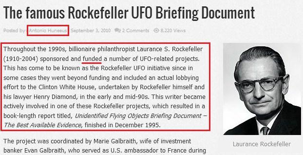 rockefeller ufo - to no cosmos