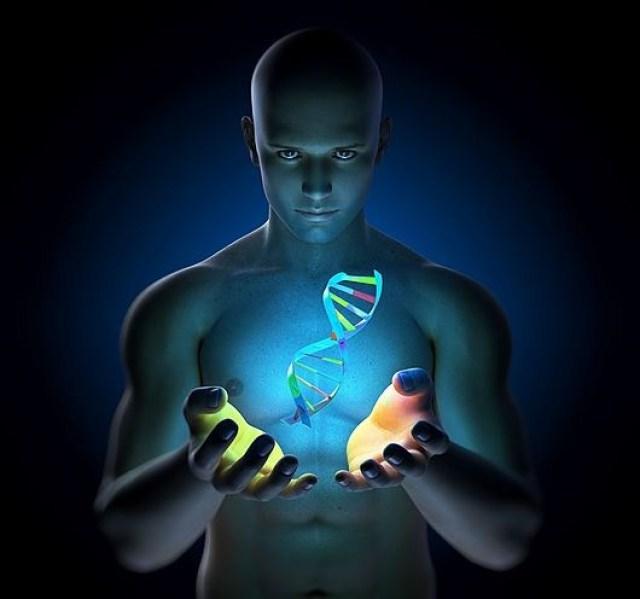 Genetic research, conceptual computer artwork.