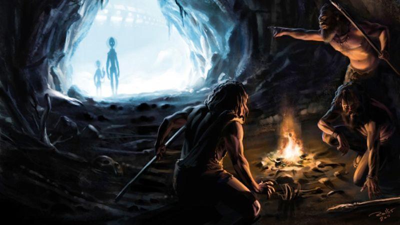 extraterrestres caverna - To no Cosmos